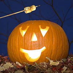 ROAST YOUR MARSHMALLOWS OVER THE FLAME OF YOUR PUMPKIN !!   YUM...