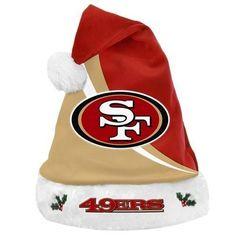 b5a0211d0 NFL Swoop Logo Santa Hat San Francisco 49ers