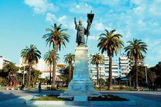 Άγαλμα,ο Παλαιών Πατρών Γερμανός,πλατεία Ψηλών Αλωνίων Πάτρας -Greece (ΚΤ)
