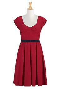 Belted poplin dress. #Customise free - size shape #style colour -  perfect fit -  ready-made prices. Incredible.