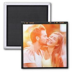 Make custom magnets for work and home! Put your favorite image on a square magnet, or customize any existing design for your fridge or file cabinet.