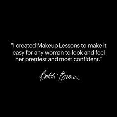 Bobbi Brown Makeup Lessons
