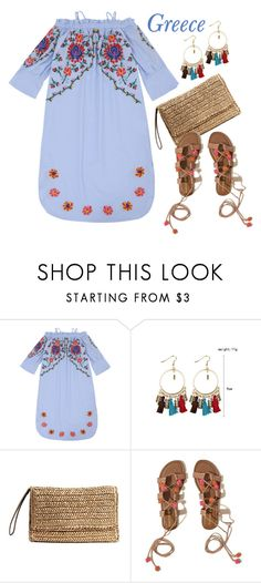 """""""Vacation: Greece"""" by justkejti ❤ liked on Polyvore featuring Hollister Co., vacation, under100 and zaful"""