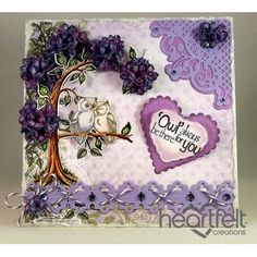 Heartfelt Creations - Loving Owls Purple Tree Project