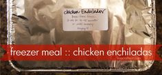 Try out this simple chicken enchiladas recipe with sour cream, one of the best I've found, for a great meal. Cook them day of or freeze them for future use. (best crockpot chicken for meal prep) Freezable Meals, Make Ahead Freezer Meals, Freezer Cooking, White Sauce Enchiladas, Chicken Enchiladas, Best Crockpot Chicken, Crockpot Recipes, Freezer Recipes, Enchilada Recipes