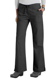 Code Happy Bliss Drawstring Pants With Certainty - Black - 3X: These comfy lowrise scrub… #NursingScrubs #MedicalScrubs #DiscountScrubs