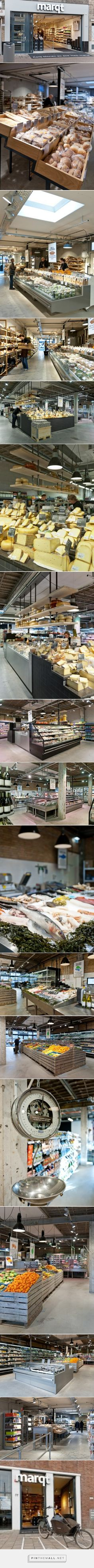 Produce and bread displays Bakery Display, Wine Display, Retail Interior Design, Retail Store Design, Deli Shop, Retail Facade, Supermarket Design, Food Retail, Suspension Design