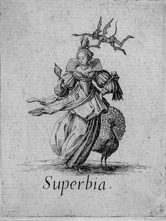 Superbia, Pride. The Seven Deadly Sins by Jacques Callot, 1621