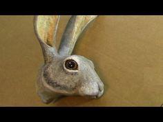 3-D Pattern for Paper Mache Jackrabbit Head – Ultimate Paper Mache