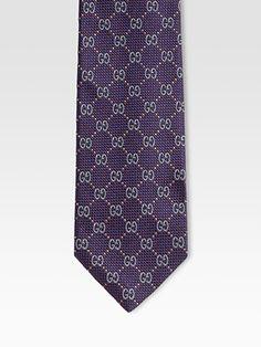 Gucci - GG Pattern Tie