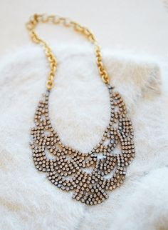 Add a little sparkle to your look with our unique limited edition necklace design   Banana Republic