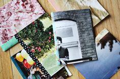 Crea el forro de tu agenda con papeles con patrones divertidos y fotos o ilustraciones de las cosas que te apasionan