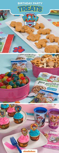 Take party guests on a great adventure with their favorite pups. PAW Patrol party treats bring their favorite Nickelodeon show to life, making this their best birthday yet. Stock up on everything you need to deck out the party at Walmart, including PAW Patrol fruit snacks, PAW Patrol cupcakes, and PAW Patrol chicken nuggets. Get even more PAW Patrol party snack and dessert ideas at nickelodeonparents.com