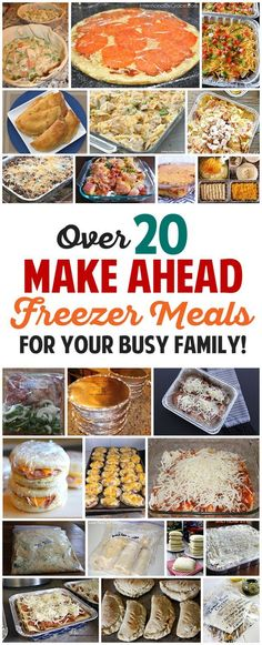 Make dinner time stress-free with these delicious freezer meals for your busy family! Make them ahead and then relax when dinnertime rolls around!