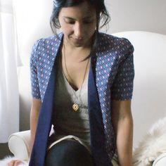 DIY Stylish and feminine cropped jacket