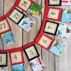 Advent bunting - Advent calendar - Christmas bunting - Crafty Christmas - Handmade Christmas - pastel pocket bunting - hats - gifts - trees by byLittleDaisy on Etsy