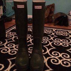 Good condition! Green Hunter boots Hunter Boots Shoes Winter & Rain Boots