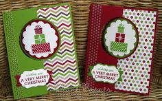 Stampin Up circle thinlits flip Christmas card by Di Barnes, #colourmehappy, #stampinup