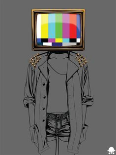 Freelance Graphic designer and illustrator Object Heads, Tv Head, Dark Drawings, Hippie Art, Arte Pop, Art Pictures, Art Inspo, Collage Art, New Art
