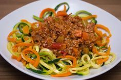 Low Carb Nudeln mit Bolognese