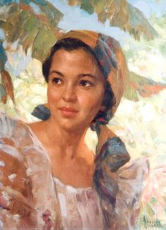 """Fernando Amorsolo y Cueto, Filipino painter, was an important influence on contemporary Filipino art and artists, even beyond the so-called """"Amorsolo school"""". Subjects: Philippine Genre, historical and society Portraits. Famous Art Paintings, Beautiful Paintings, Filipino Art, Filipino Culture, Simple Oil Painting, Munier, Philippine Art, Egyptian Art, Portrait Art"""