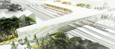 Image 1 of 9 from gallery of Silvio d'Ascia Wins Competition to Design Morocco Rail Station. Courtesy of Silvio d'Ascia Architecture and Omar Kobité