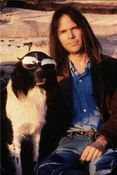 Neil Young with Art  © HENRY DILTZ, Date Unknown