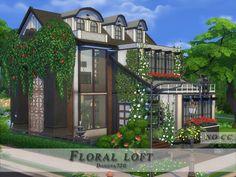 Floral loft – The Sims 4 Catalog – Modern Sims 4 Loft, Sims 3, Maxis, Industrial House, Industrial Style, Industrial Design, Industrial Restaurant, Industrial Closet, Industrial Bookshelf