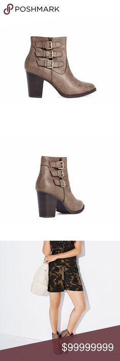 Selling this Classy & Chic Taupe Booties on Poshmark! My username is: tresorsboutique. #shopmycloset #poshmark #fashion #shopping #style #forsale #Shoes