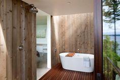 Holz Badezimmer-freistehende Badewanne