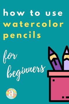 Watercolor Pencils Techniques, Watercolor Pencil Art, Watercolor Flowers Tutorial, Watercolor Paintings For Beginners, Watercolor Art Lessons, Colored Pencil Techniques, Watercolor Projects, Pencil Painting, Watercolour Tutorials