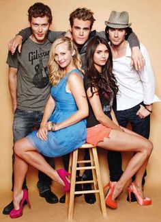 1. I don't know if it's just my taste, or what, but the three people I want to drag into my bedroom from this pic are Nina, Ian and Joseph. In that order, actually. Also - those girls have some serious leg muscles. I need to get back on my yoga routine!!  tumblr_lpfsaln46H1qzoaqio1_r1_500.jpg