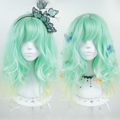 "Material:+made+of+artifact+heat-resisting+hair+fiber Color:Green Suggest+for+head+circumference:+ 54-57cm/21.26-22.44""…"