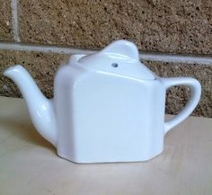 Hall China White Tea for Two Teapot - One Cup Capacity - Vintage  1970s-1980s by ClassyVintageGlass on Etsy