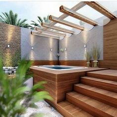 +29 What is Really Going on with Garden Design Ideas - walmartbytes Jacuzzi Outdoor, Outdoor Spa, Hot Tub Deck, Hot Tub Gazebo, Backyard With Hot Tub, Pool Decks, Garden Jacuzzi Ideas, Garden Tub, Diy Garden