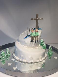 Hochzeitstorte Skitourenfahrer Wedding cake skiers