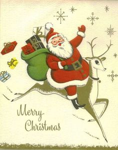 Image result for christmas cards vintage reindeer