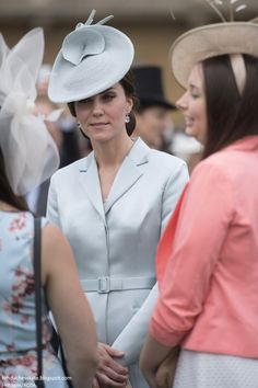 Catherine, Duchess of Cambridge at a garden party at Buckingham Palace on May 16, 2017 in London, England.