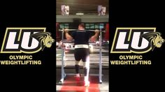 Lindenwood University Olympic Weightlifting- 300 kg lift by Fernando Rei...