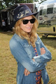 The gorgeous Sienna Miller with a #REPLAY #denim shirt.  #ReplayFestival