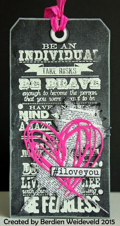 Scrap from Bemmel: #iloveyou using Tim Holtz, Ranger, Idea-ology, Sizzix, Stamper's Anonymous products; Mar 2015
