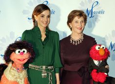 Queen Rania, Laura Bush, Muppets