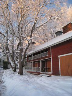 7.luukku ja kaunis talvimaisema. Kuva: Jukka-Pekka Friman