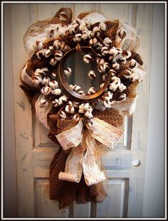 Everyday Initial Wreath by TheQuirkyCork on Etsy, $108.00