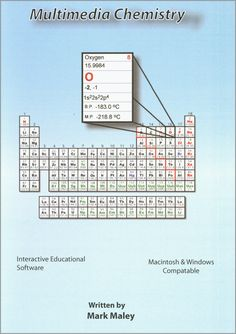 #The Multimedia Chemistry CD-ROM by Mark Maley, M and R Digital Texts, LLC. Chemistry education multimedia software for Macintosh and Windows.