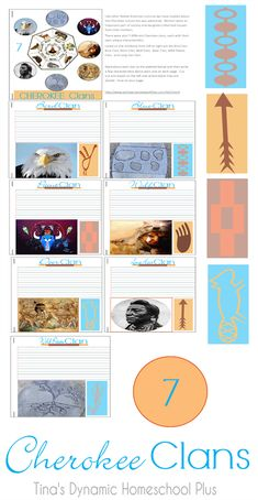 Cherokee Clans.......Trail of Tears Unit Study and Lapbook. Though we will focus of course on the culture and life of a few different Native American people, I wanted to expose the injustices and ugly side of American history.