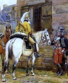 French; Cavalry Trumpeter 23rd Dragoons and Hussar 8th Hussars by Alphonse Lalauze