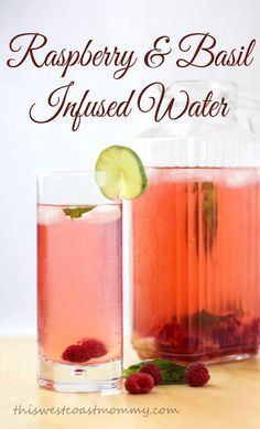 Raspberry & Basil Infused Water