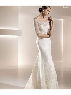Hot Sexy Bride White Lace Wedding Dress Long Sleeve Bridal Gown Bridal Dress Wedding Gown A0095