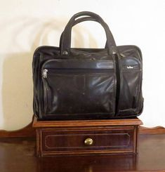 Reserved for B Thanksgiving Sale Hartmann Black Leather Soft Side Briefcase  Bag Made In U.S.A. - GUC- Carrying Strap Missing b9b73d773b346